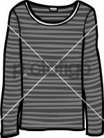 Long sleeved jersey top womenFreehand Image