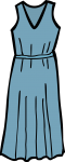 Maxi dress women freehand drawings