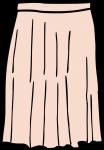 Maxi skirt women freehand drawings