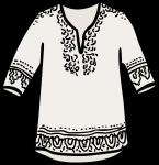 Patterned tunic women