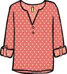 Patterned tunic women freehand drawings