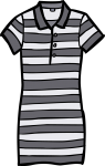 Polo shirt dress women freehand drawings