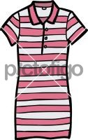 Polo shirt dress womenFreehand Image