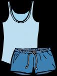 Pyjamas women freehand drawings