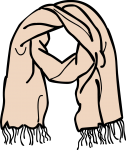 Scarf women freehand drawings