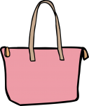 Shopper bag women freehand drawings