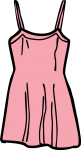 Short dress women freehand drawings