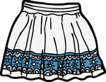 Short skirt women freehand drawings