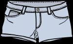 Shorts women freehand drawings