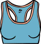 Sports bra women freehand drawings