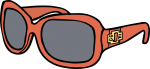 Sunglasses women freehand drawings