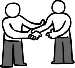 Handshake freehand drawings