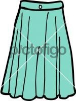 Wide denim skirt womenFreehand Image