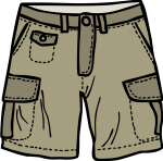 Cargo shorts men freehand drawings