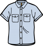 Denim shirt men freehand drawings