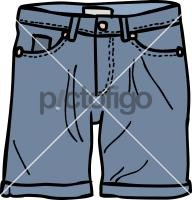Denim shorts menFreehand Image
