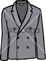 Double breasted linen jacket menFreehand Image