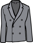 Double breasted linen jacket men