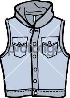 Hooded denim waistcoat menFreehand Image