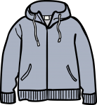 Hooded jacket men freehand drawings