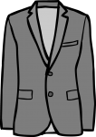 Linen jacket men freehand drawings