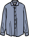 Linen shirt men freehand drawings