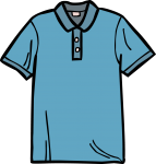 Polo shirt men freehand drawings