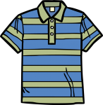 Polo t shirt men freehand drawings
