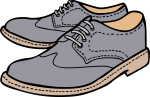 Shoes men freehand drawings