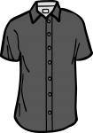 Short sleeved shirt men freehand drawings
