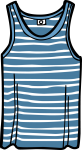 Singlet men freehand drawings