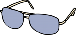 Sunglasses men freehand drawings