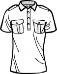 Tennis shirt men freehand drawings