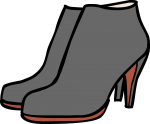 Ankle boot freehand drawings