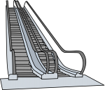 Escalator freehand drawings