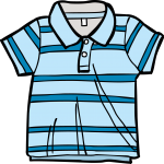 Polo Shirt boy freehand drawings