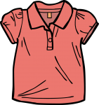 Polo Shirt girl freehand drawings
