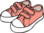 Shoes kid freehand drawings