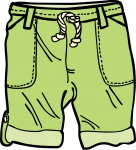 Trousers boy freehand drawings