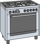 Gas Cookers freehand drawings