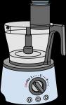 Food Processor freehand drawings