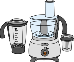 Food Processor freehand drawings
