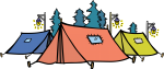 Tent freehand drawings