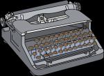 Typewriter freehand drawings
