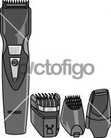 Hair ClipperFreehand Image