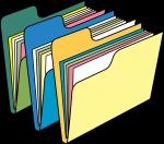 Folder freehand drawings