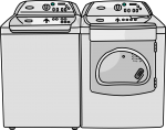 Washer Dryers freehand drawings
