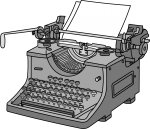 Typewriter freehand drawings