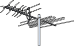 TV Antenna freehand drawings