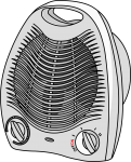 Heater Fan freehand drawings
